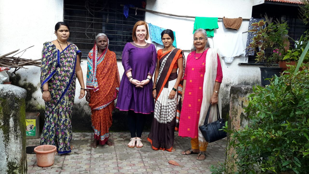 Erica with women entrepreneues and Mrs. Parekh