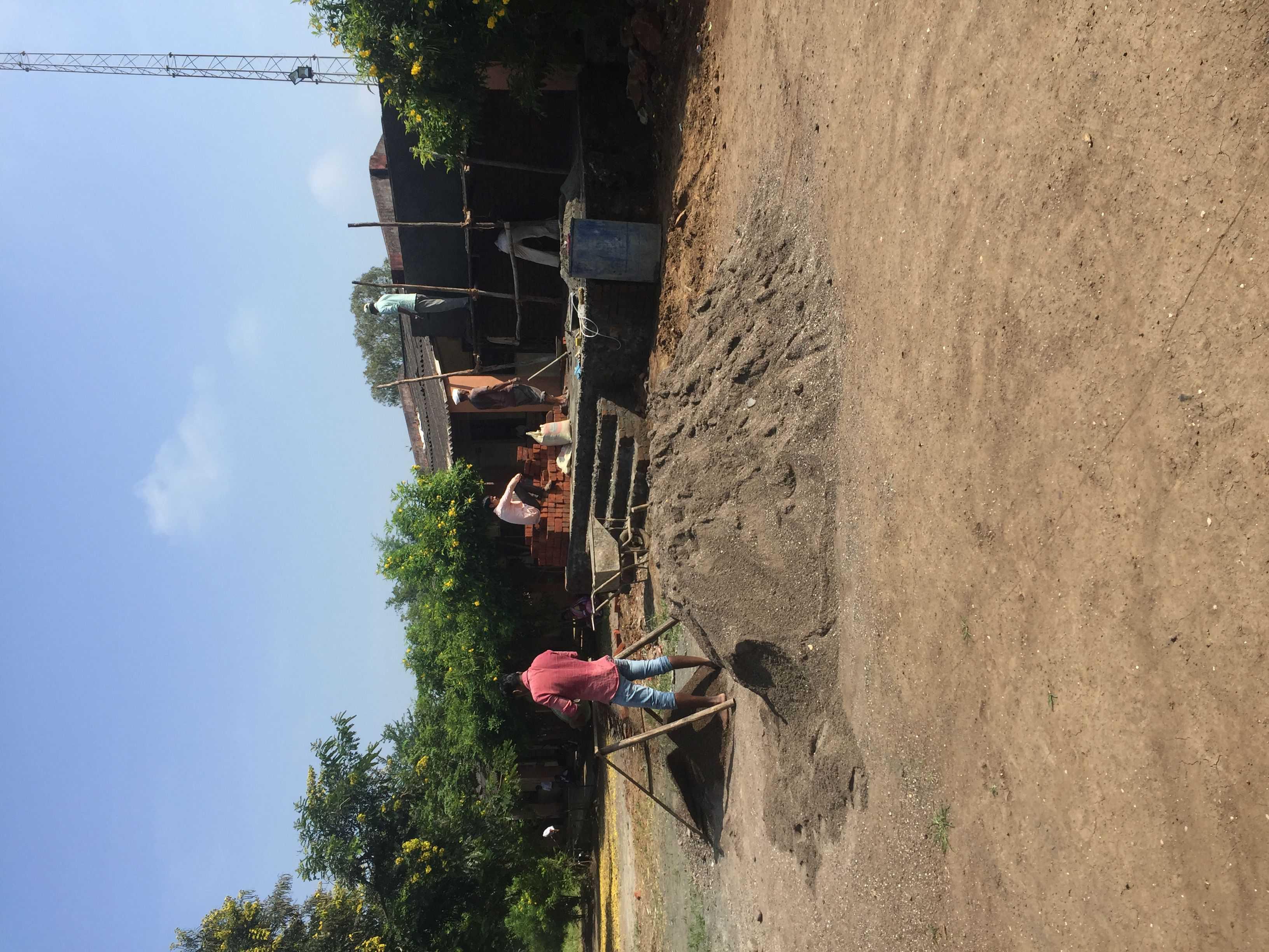 Rebuilding of school toilet